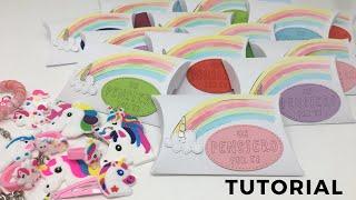 Unicorn party TUTORIAL: pillow box-FESTA DI COMPLEANNO TEMA UNICORNO