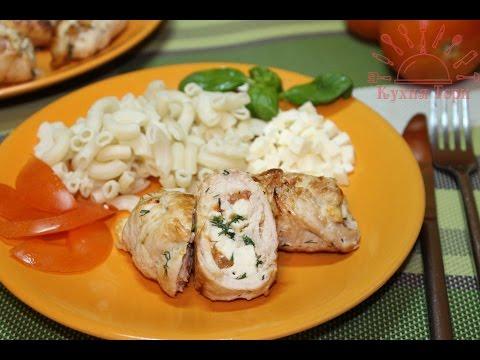 Куриные рулетики с помидорами и мягким сыром