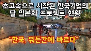 """초고속으로 시작된 한국 기업의 탈일본화 프로젝트 현황 """"한국, 뭐든간에 빠르다"""""""