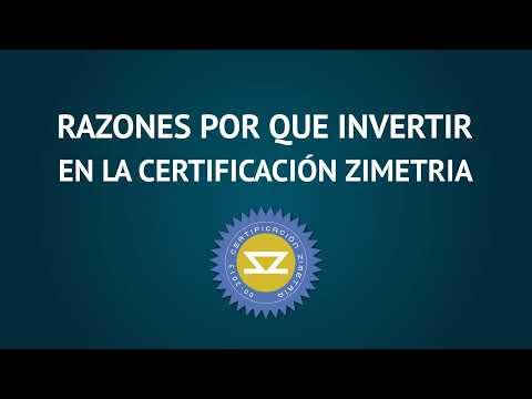 Certificación Zimetría
