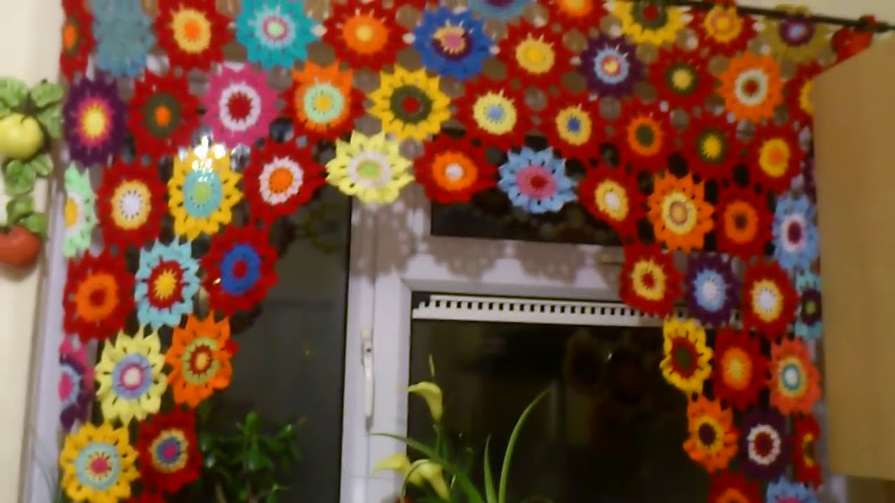 Crochet curtains - YouTube