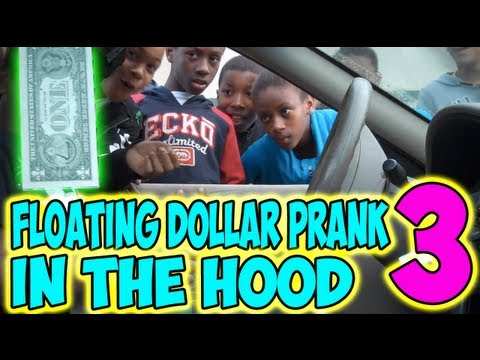 Floating Dollar Prank in the Hood 3