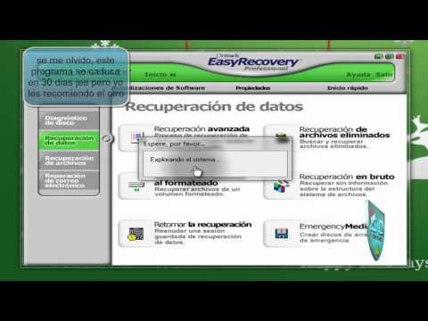 recuperar archivos de una memoria USB viruleada o dañada.wmv