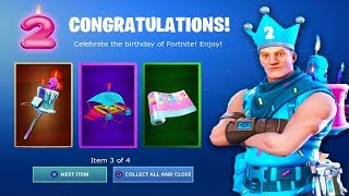 The New 2nd BIRTHDAY EVENT in Fortnite.. (FREE REWARDS)