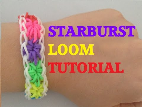 STARBURST (Original Method) Rainbow Loom bracelet Tutorial l Jasmin