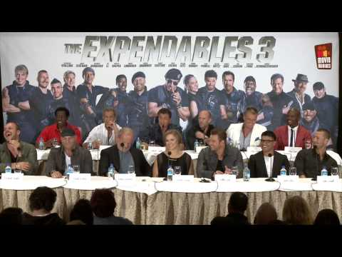 Expendables 3 | full press conference Mel Gibson Sylvester Stallone Jason Statham