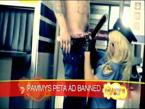 Pam Anderson's Banned PETA Ad