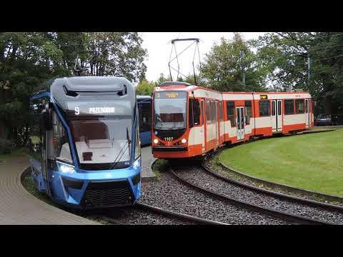 Niebieski Tramwaj Na Gdańskich Torach. GAiT Testuje Moderus Gamma Z Poznania. Gdańskie Tramwaje