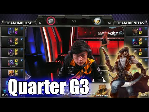Team Impulse vs Dignitas | Game 3 Quarter Finals S5 NA LCS Summer 2015 Playoffs | TIP vs DIG G3 QF