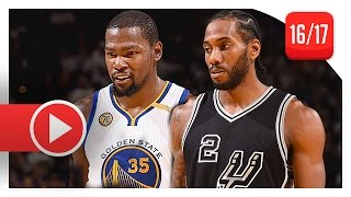 Kawhi Leonard vs Kevin Durant SUPERSTARS Duel Highlights (2016.10.25) Warriors vs Spurs - SICK