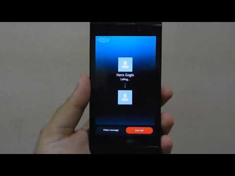 Skype for BlackBerry 10 ft. BB Z10