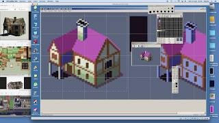 How to make a pixel art HOUSE for games in isometric view - DYA Games