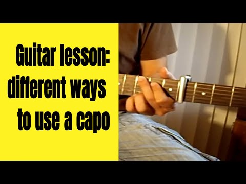 Guitar lesson - different ways to use a capo (G7th Capo in the video)
