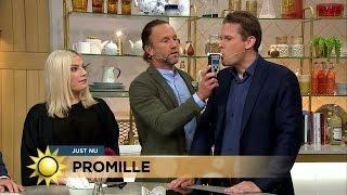 Så här gick promilletestet - Nyhetsmorgon (TV4)