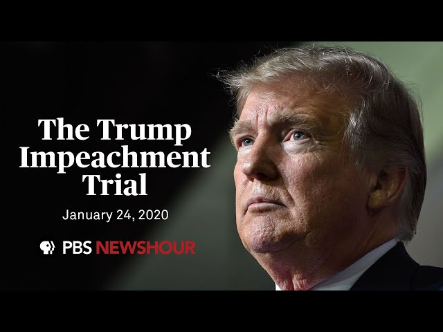 WATCH LIVE Senate impeachment trial of Donald Trump  January 24