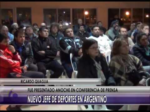 01 07 16   NOTA QUAGLIA NUEVO JEFE DE DEPORTES ARGENTINO