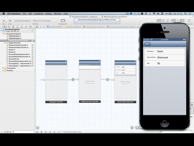 iOS 6 UIStoryboarding Part 2 - UITableViews