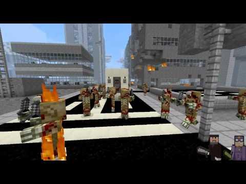 Minecraft Zombie Survival Map [Horizon City]
