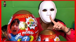 Pretend Play Mask Master Hide and Seek Ryan's World Myster Giant Egg