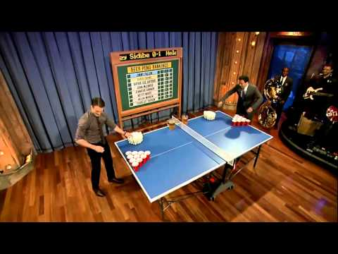 Jimmy Fallon - Beer Pong with Chris Evans (7-12-11)