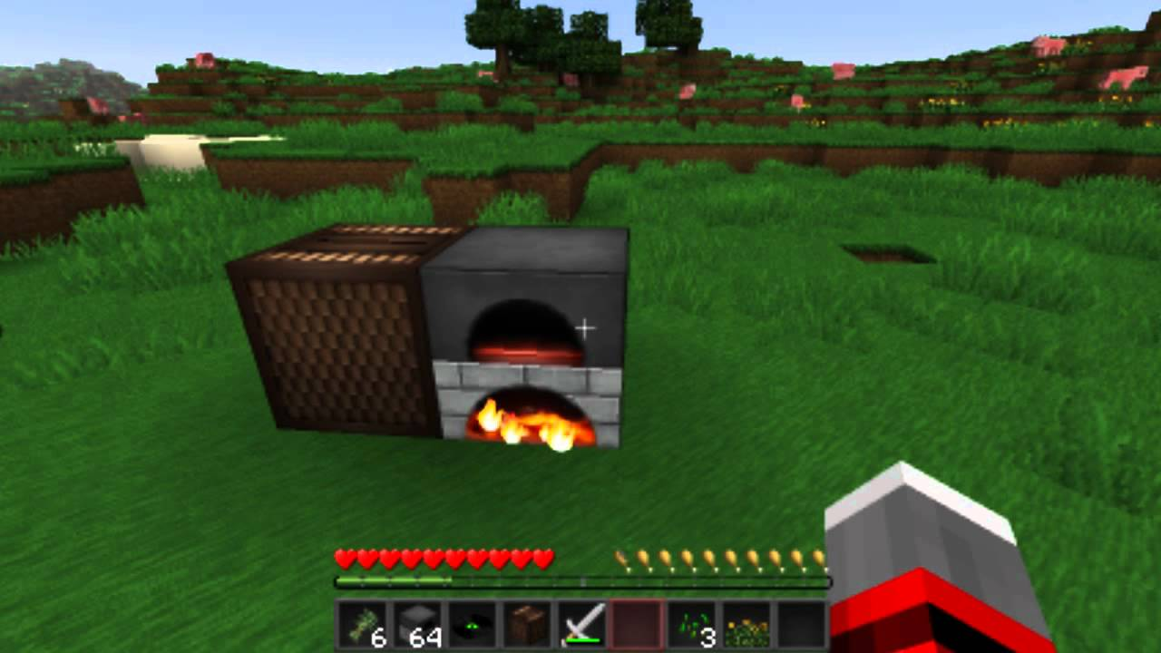 How to cook food in minecraft youtube for Cuisine minecraft
