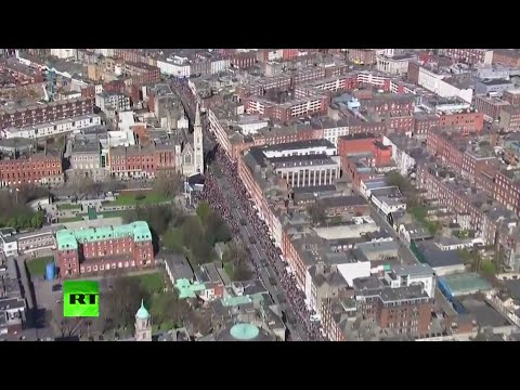 100 years since Ireland's 'revolution': Easter Rising parade and proclamation ceremony