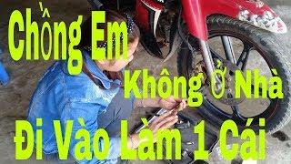 Gái Xinh Thay Má Phanh Đĩa Cho Xe - YAMAHA SIRIUS (Motorcycle Repair) Dương Văn Hiếu Vlog