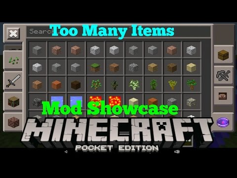 [0.13.1] 'BETTER INVENTORY' - Best Too Many Items Mod Showcase - Minecraft PE (Pocket Edition)