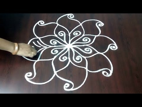 Very Small Design ||  Very Simple Dots Muggulu 3x3 ||  Simple Rangoli Design || Fashion World