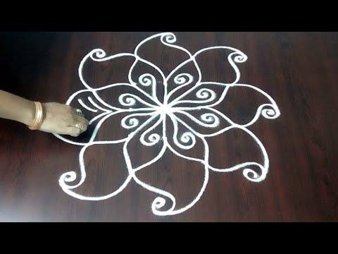 Very Small Design ||  Very Simple Dots Muggulu 3x3 ||  Simple Rangoli Design || Fashion World
