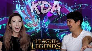 K/DA - POPSTARS! LEAGUE OF LEGENDS KDA MUSIC VIDEO REACTION!!
