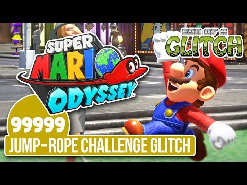Super Mario Odyssey - Reach 99,999 Jump-Rope Challenge Glitch - Son of a Glitch Bonus Episode
