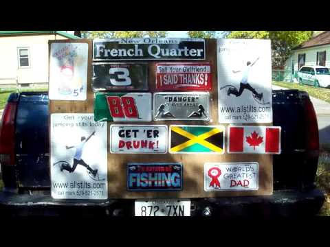 A few license plates from www.buyfunlicenceplates.com Video