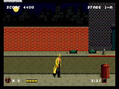 (Megadrive) Dick Tracy Gameplay