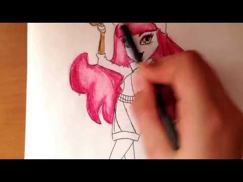 Видео как нарисовать Хаулин из Монстр Хай