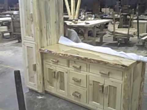 Cedar Lake Collection Log Cabin Bathroom Vanity Youtube