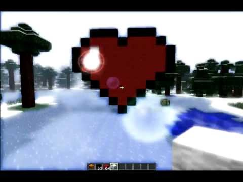 Minecraft How to Make a Heart