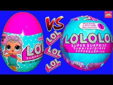 Куклы Лол Версус Подделок Лол Яйцо или Шар куклы Лол сюрприз Топ 2 LOL surprise fake doll монстр хай