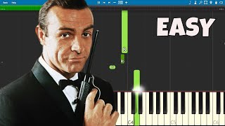 How to play the James Bond Theme - EASY Piano Tutorial