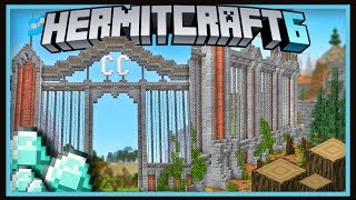 Hermitcraft Season 6: Epic ConCorp Gate Design & DIAMONDS!    (Minecraft 1.13.2 survival  Ep.40)