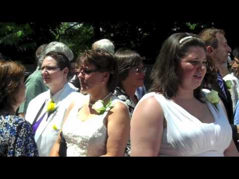 Dozens of Same-Sex Couples Get Married