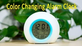Digital Color Changing Nature Sound Alarm Clock - Gearbest.com