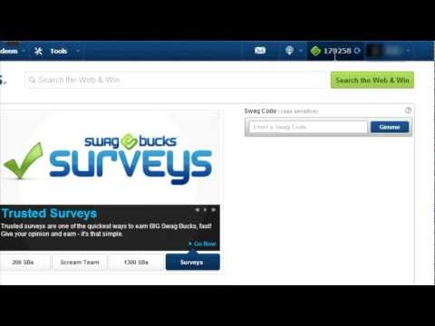 How to earn 200 000 SwagBucks per month No Hack No Bot Just Bug October 2012