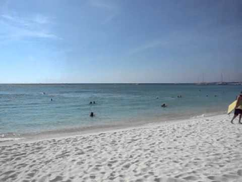 The view from the beach of the Radisson Aruba Resort