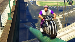 BIKE PARKOUR RACE & WORSTENPRAAT - GTA 5 Online Funny Moments