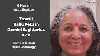 Transit Rahu Ketu in Gemini Sagittarius 1/2 : Komilla Sutton