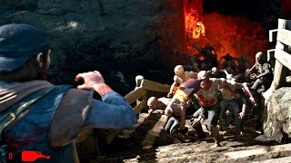 Days Gone - Metolius Lava Cave Zombies Horde Boss Fight (Days Gone 2019) PS4 Pro
