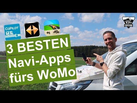 Die 3 BESTEN Navi-Apps für Wohnmobile und Camper - CoPilot, Navigon, Sygic im Vergleich