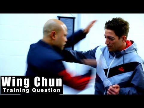 wing chun techniques  Arm break & knee Q78