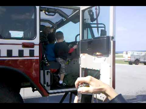 USMC fire truck in Okinawa made at Oshkosh Truck Video